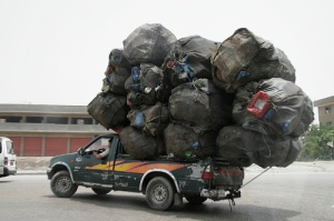 Pickup over loaded for moving day